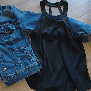 ❤Love this cute black top♥️